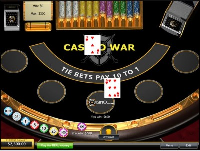 casino war how to play